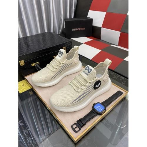 Armani Casual Shoes For Men #879988 $76.00 USD, Wholesale Replica Armani Casual Shoes