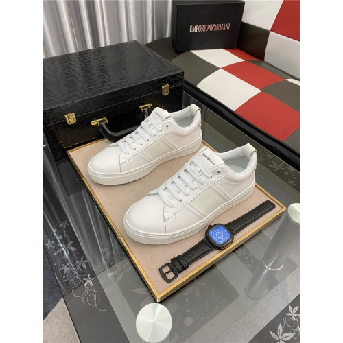 Armani Casual Shoes For Men #879989 $76.00 USD, Wholesale Replica Armani Casual Shoes