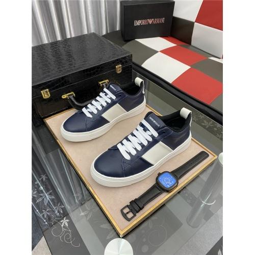 Armani Casual Shoes For Men #879990 $76.00 USD, Wholesale Replica Armani Casual Shoes