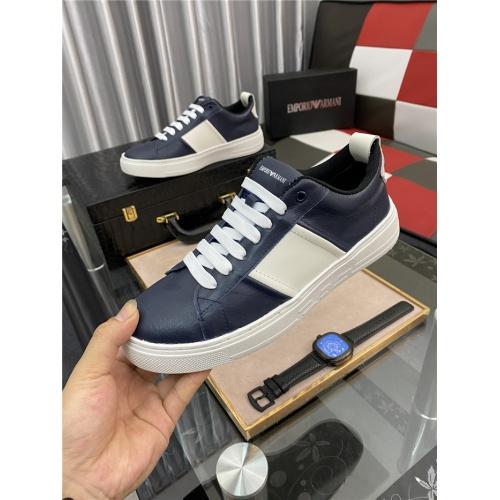 Replica Armani Casual Shoes For Men #879990 $76.00 USD for Wholesale