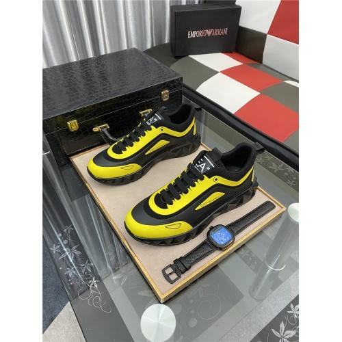 Armani Casual Shoes For Men #879992 $76.00 USD, Wholesale Replica Armani Casual Shoes