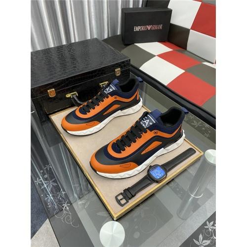 Armani Casual Shoes For Men #879993 $76.00 USD, Wholesale Replica Armani Casual Shoes