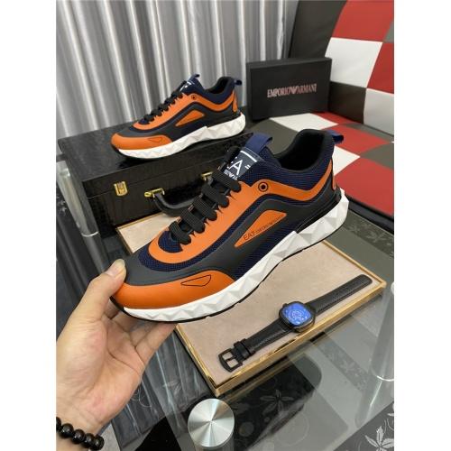Replica Armani Casual Shoes For Men #879993 $76.00 USD for Wholesale