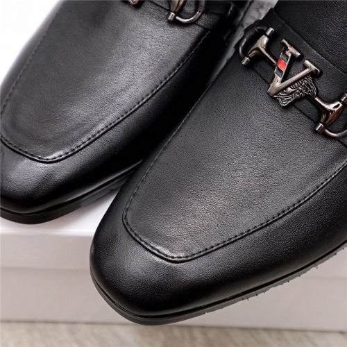 Replica Versace Leather Shoes For Men #880000 $80.00 USD for Wholesale
