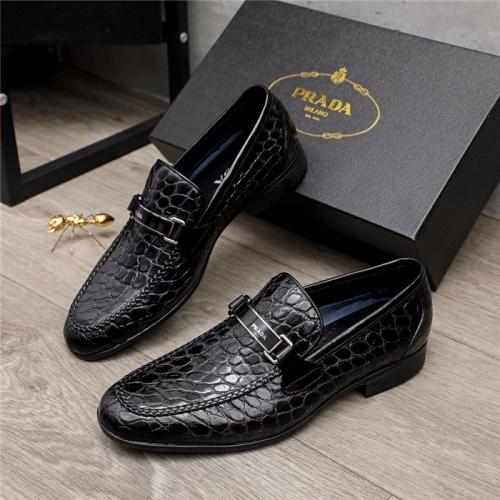 Prada Leather Shoes For Men #880010 $82.00 USD, Wholesale Replica Prada Leather Shoes