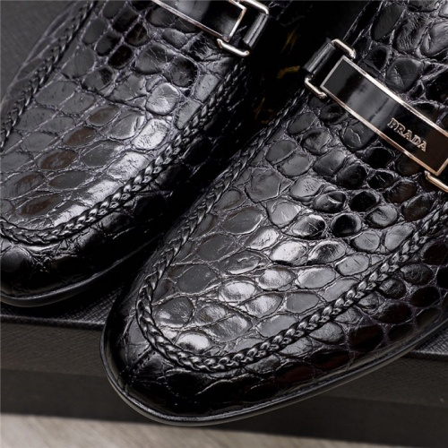 Replica Prada Leather Shoes For Men #880010 $82.00 USD for Wholesale