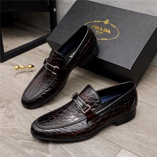 Prada Leather Shoes For Men #880011 $82.00 USD, Wholesale Replica Prada Leather Shoes