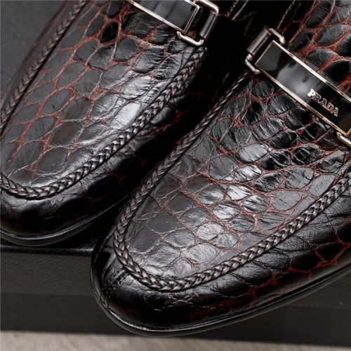 Replica Prada Leather Shoes For Men #880011 $82.00 USD for Wholesale