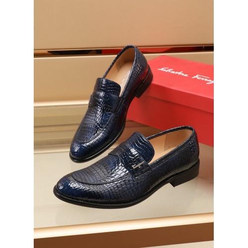 Ferragamo Salvatore FS Leather Shoes For Men #880012 $82.00 USD, Wholesale Replica Ferragamo Leather Shoes