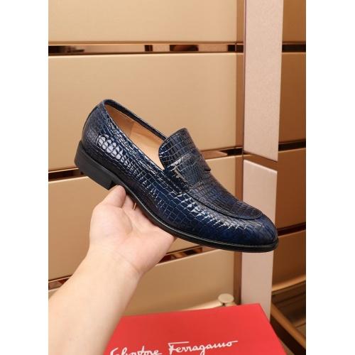 Replica Ferragamo Salvatore FS Leather Shoes For Men #880012 $82.00 USD for Wholesale
