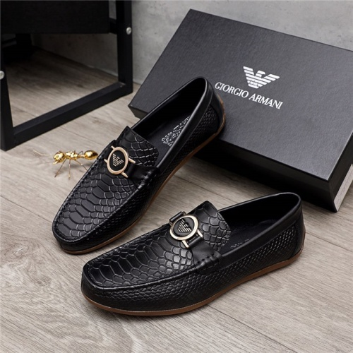 Armani Leather Shoes For Men #880793