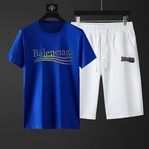 Balenciaga Fashion Tracksuits Short Sleeved For Men #881218