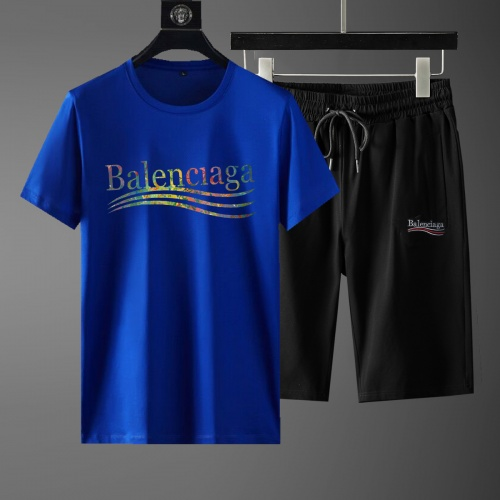 Balenciaga Fashion Tracksuits Short Sleeved For Men #881219
