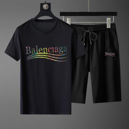 Balenciaga Fashion Tracksuits Short Sleeved For Men #881221