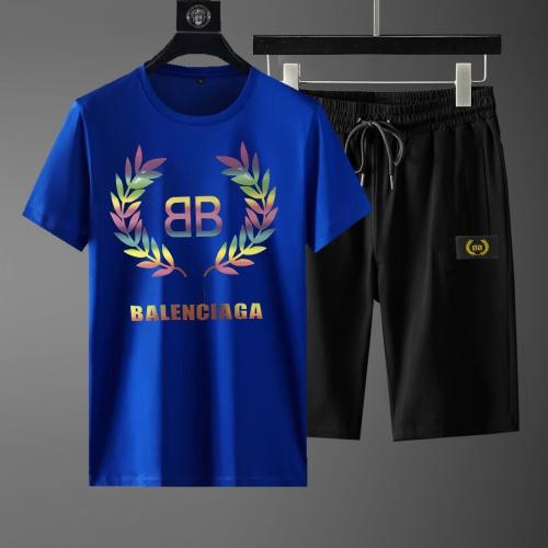Balenciaga Fashion Tracksuits Short Sleeved For Men #881234