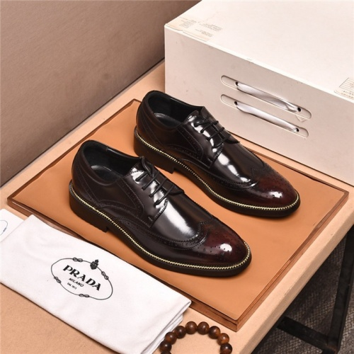 Prada Leather Shoes For Men #881355