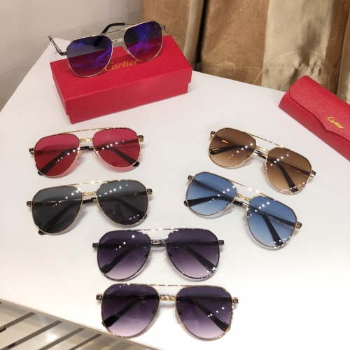 Replica Cartier AAA Quality Sunglasses #882213 $52.00 USD for Wholesale