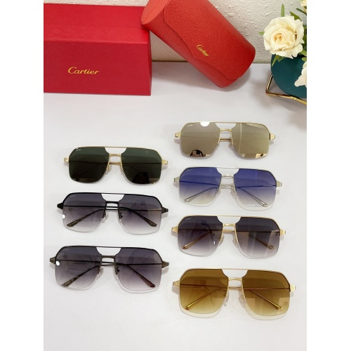 Replica Cartier AAA Quality Sunglasses #883480 $48.00 USD for Wholesale