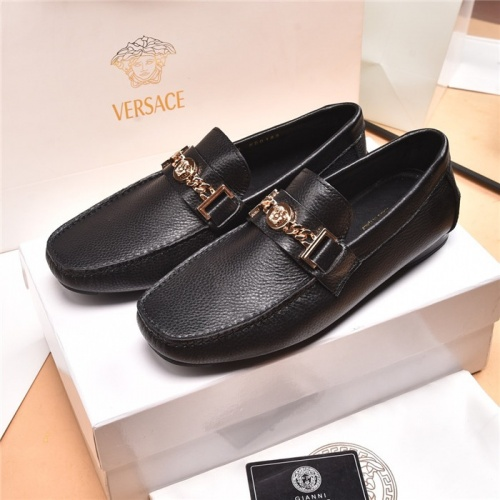 Versace Leather Shoes For Men #884699