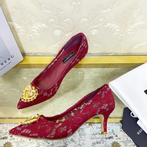 Dolce & Gabbana D&G High-Heeled Shoes For Women #887606