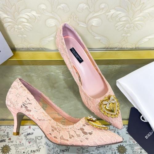 Dolce & Gabbana D&G High-Heeled Shoes For Women #887609