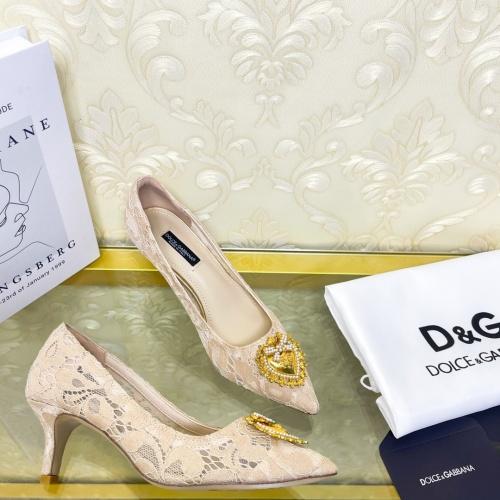 Dolce & Gabbana D&G High-Heeled Shoes For Women #887611