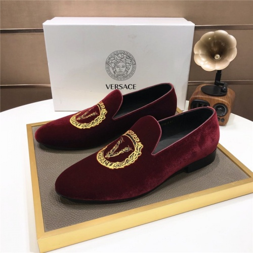 Versace Leather Shoes For Men #887920
