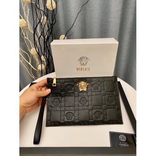 Versace AAA Man Wallets #889223 $54.00 USD, Wholesale Replica Versace AAA Man Wallets