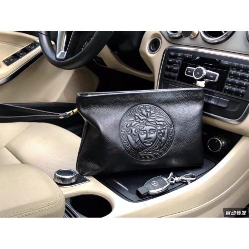 Versace AAA Man Wallets #889224 $54.00 USD, Wholesale Replica Versace AAA Man Wallets
