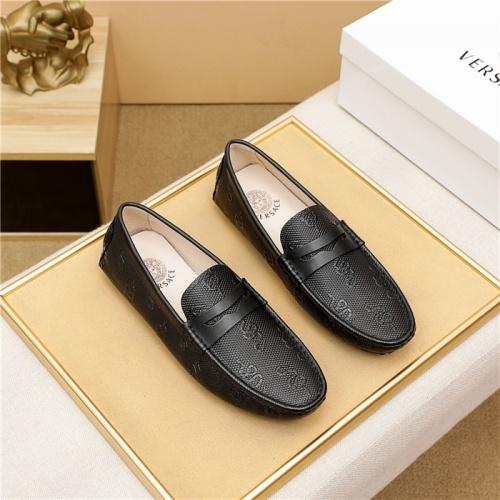 Versace Leather Shoes For Men #889430 $68.00 USD, Wholesale Replica Versace Leather Shoes