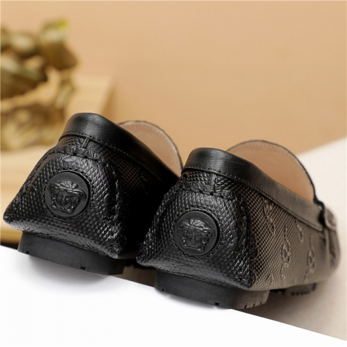 Replica Versace Leather Shoes For Men #889430 $68.00 USD for Wholesale