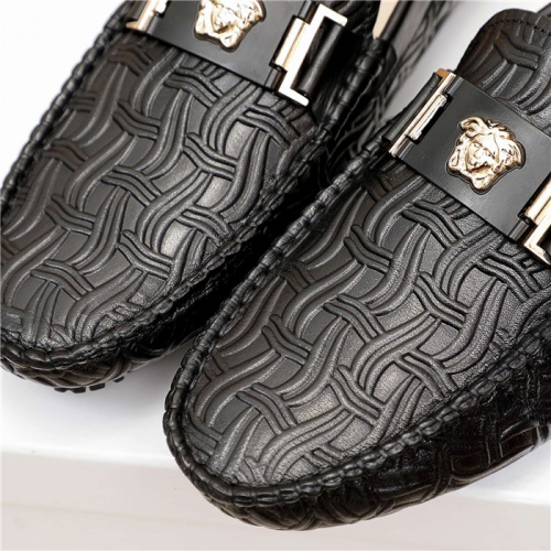 Replica Versace Leather Shoes For Men #889431 $68.00 USD for Wholesale