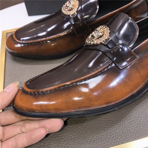 Replica Versace Leather Shoes For Men #889432 $96.00 USD for Wholesale