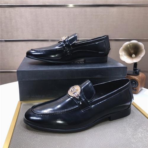 Versace Leather Shoes For Men #889433 $96.00 USD, Wholesale Replica Versace Leather Shoes