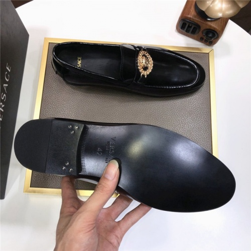 Replica Versace Leather Shoes For Men #889433 $96.00 USD for Wholesale