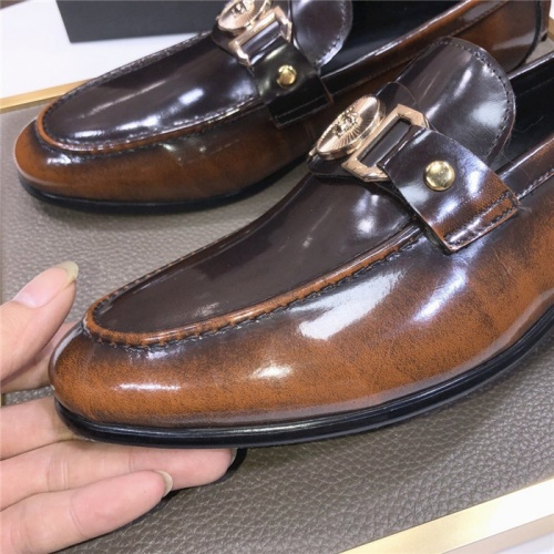 Replica Versace Leather Shoes For Men #889434 $96.00 USD for Wholesale