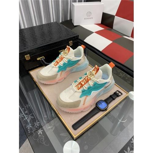 Versace Casual Shoes For Men #890022 $80.00 USD, Wholesale Replica Versace Casual Shoes