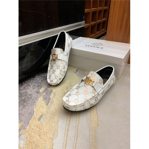 Versace Leather Shoes For Men #890568 $76.00 USD, Wholesale Replica Versace Leather Shoes