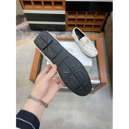 Replica Versace Leather Shoes For Men #890568 $76.00 USD for Wholesale