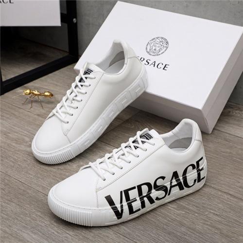 Versace Casual Shoes For Men #890575 $100.00 USD, Wholesale Replica Versace Casual Shoes