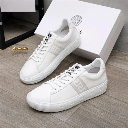 Versace Casual Shoes For Men #890577 $130.00 USD, Wholesale Replica Versace Casual Shoes