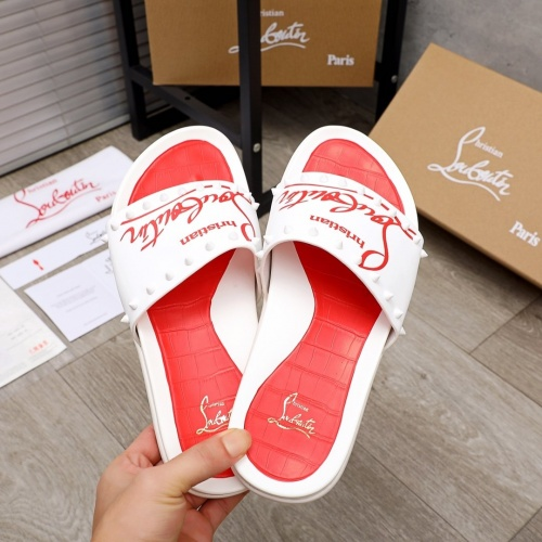 Replica Christian Louboutin CL Slippers For Men #892767 $56.00 USD for Wholesale