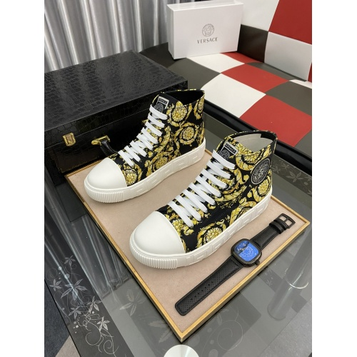 Versace High Tops Shoes For Men #894776
