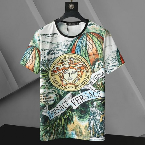 Versace T-Shirts Short Sleeved For Men #896528 $24.00 USD, Wholesale Replica Versace T-Shirts