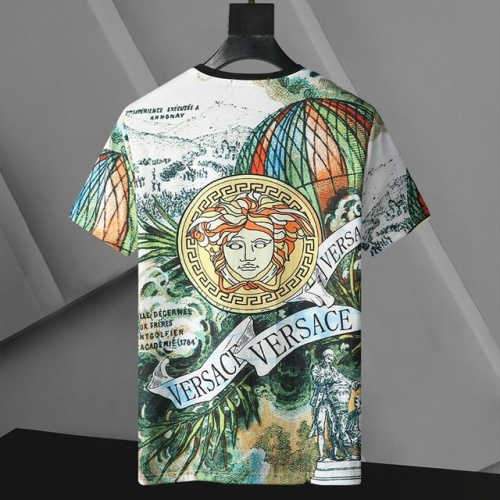 Replica Versace T-Shirts Short Sleeved For Men #896528 $24.00 USD for Wholesale