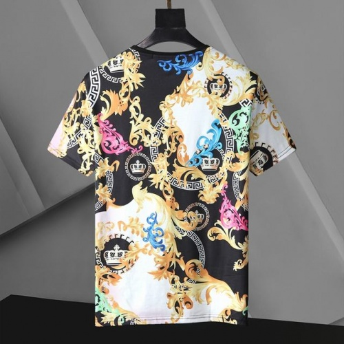 Replica Versace T-Shirts Short Sleeved For Men #896535 $24.00 USD for Wholesale