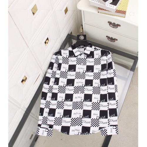 Christian Dior Shirts Long Sleeved For Men #897697