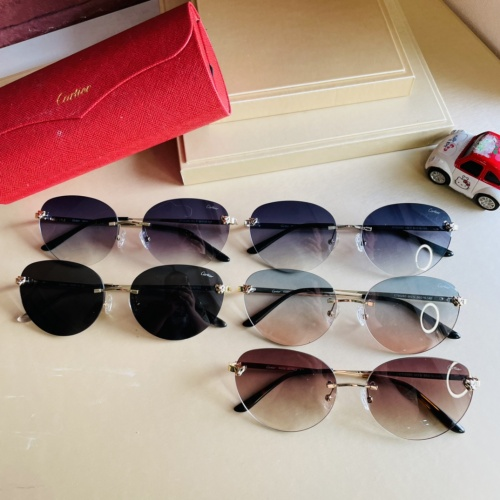 Replica Cartier AAA Quality Sunglassess #897895 $44.00 USD for Wholesale