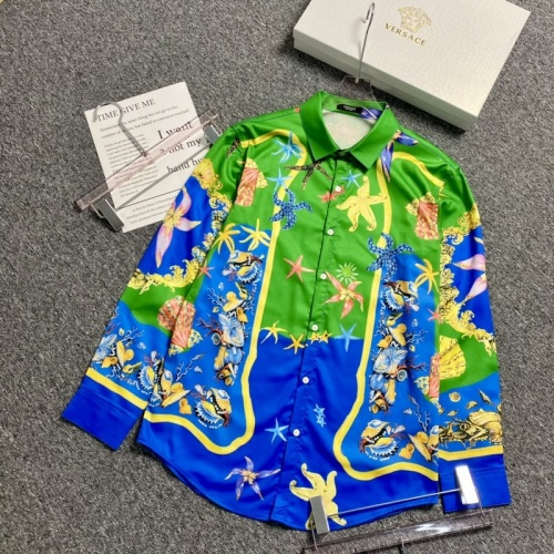 Versace Shirts Long Sleeved For Men #904214