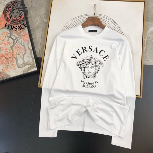 Versace T-Shirts Long Sleeved For Men #905045 $34.00 USD, Wholesale Replica Versace T-Shirts